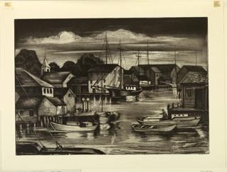 Print, The Little Harbor