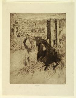 Print, Bridge of Alcantara, Toledo, 1904