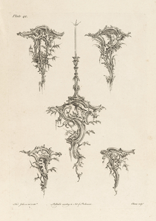 Several designs of brackets with stalactite-like decoration.