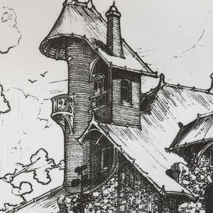 Photograph, Exterior of Castel d'Orgeval, Rear Facade