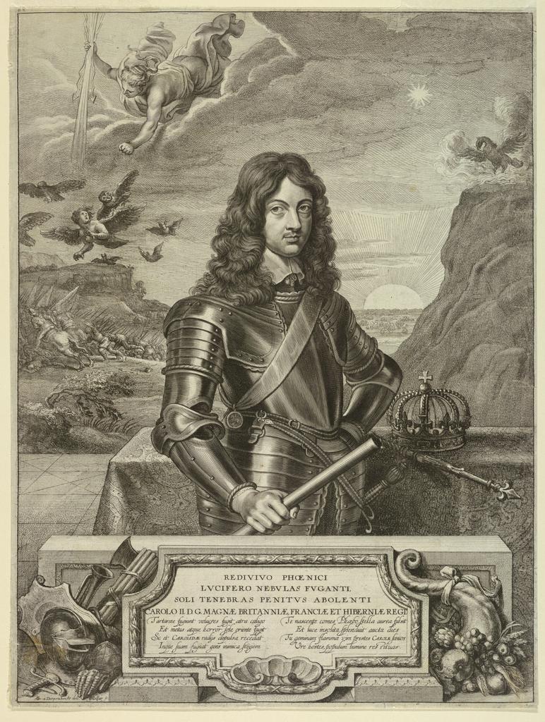 Print, Portrait of Charles II, King of England
