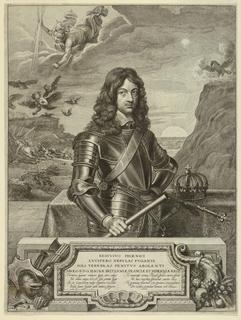 Print, Portrait of Charles II, King of England, ca. 1650