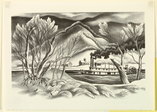 Print, Winter on the River