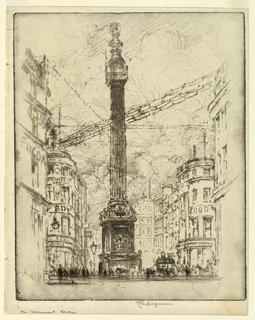 Print, The Monument, London, 1903