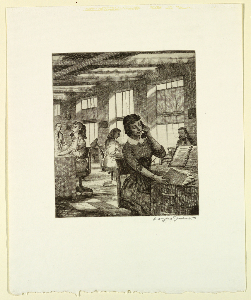 Print, Behind the Scenes: Service Representatives in a Business Office