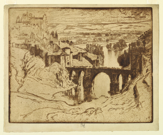 Print, St. Martin's Bridge, Toledo, 1904