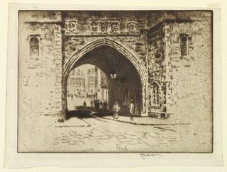 Print, Saint John's Gate, Clerkenwell, 1903