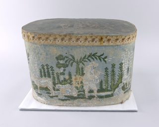 Bandbox And Lid (USA), ca. 1830