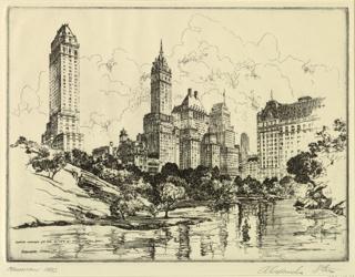 Print, Manhattan Oasis