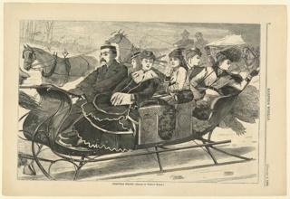 Print, Christmas Belles, Harper's Weekly, January 1869