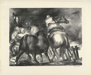 Print, Escaped Bull