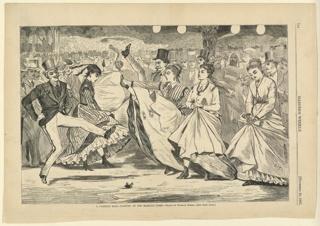 Print, A Parisian ball Dancing at the Mabille, Paris, Harper's Weekly, November 1867