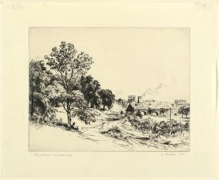 Print, Brooklyn Landscape