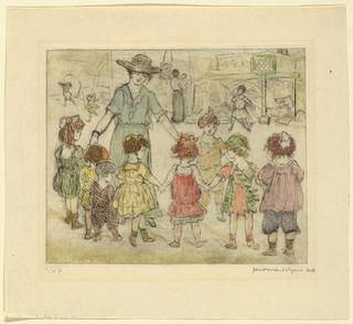 Print, Teacher and Children
