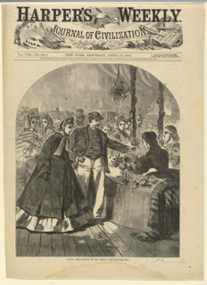 Print, Floral department of the Great Fair, Harper's Weekly, April 1864