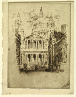 Print, St. Paul's, Fleet Street, London, 1905