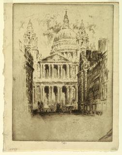 Print, St. Paul's, Fleet Street, London, 1905