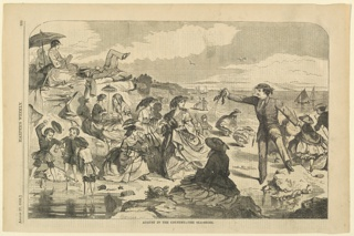 Print, August in the country, sea shore, Harper's Weekly, November 1862