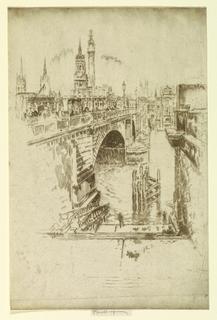 Print, London Bridge Stairs, 1903