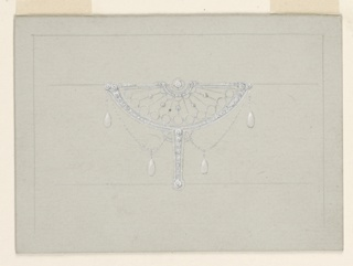 Horizontal rectangles.  Bordering lines aa 1939-84-20. In the sahpe of a crossbow with filigree, diamonds and clropa.