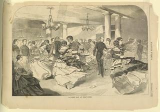 Print, A cadet hop at West point, Harper's Weekly, September 1859