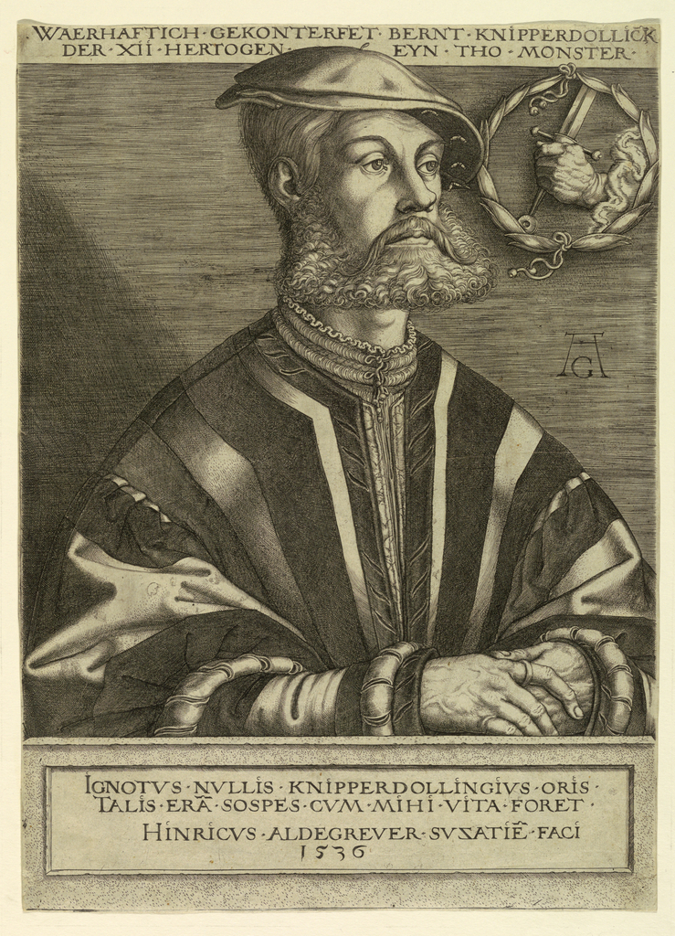 Print, Portrait of Bernard Knipperdolling, A Chief of the Anabaptists of Münster