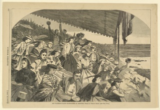 Print, Our watering places--horse racing at Saratoga, Harper's Weekly, August 1865