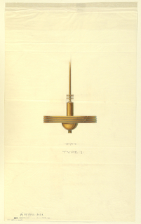 Drawing, Design for Hanging Electric Light Fixture, 1923–43
