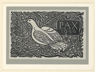 Print, Christmas Card: PAX 1956