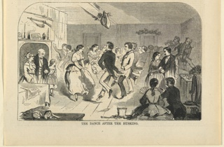 Print, The dance after the husking, November 1858