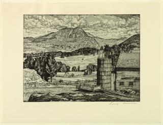 Print, Farm in the Hills