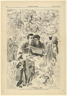 Print, St. Valentine's Day, the old story in all lands, February 1868