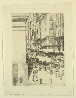 Print, Fifth Avenue, Noon