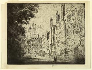 Print, Fig Tree House, Lincoln's Inn, 1905