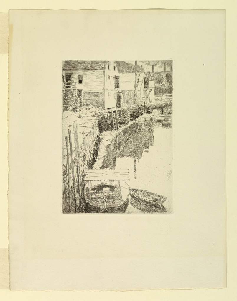 Print, Harbor: Cos Cob, Connecticut