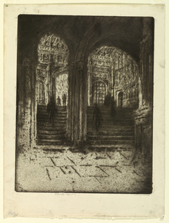 Print, Entrance to Henry VII's Chapel, Westminster, 1905