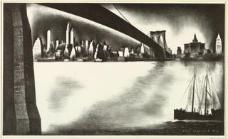 Print, Distant Manhattan