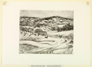 Print, Wintry Fields