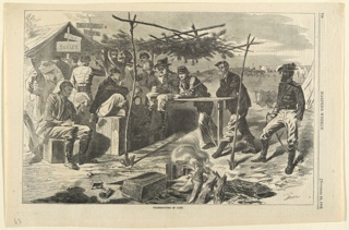 Print, Thanksgiving in camp, Harper's Weekly, November 1862