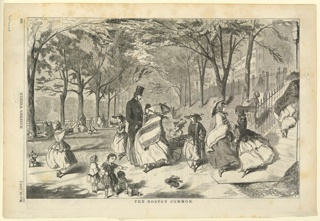 Print, The Boston Common, Harper's Weekly, May 1858