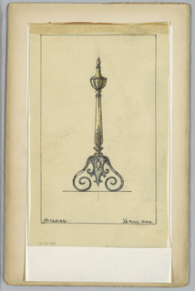 Drawing, Andiron, 20th century