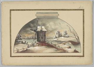 Scene with windmill.