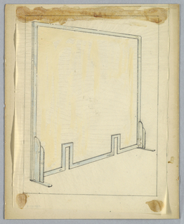 Drawing, Firescreen, 20th century