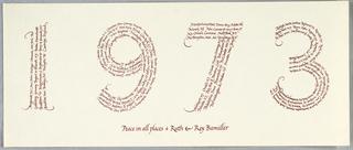 Calligraphy, Christmas Card, 1973