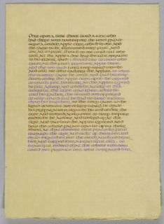 Calligraphy, Fairy Tale Beginning, 1968
