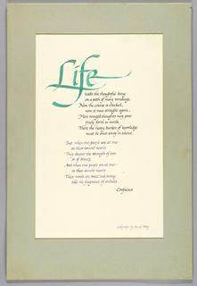 Calligraphy (USA)
