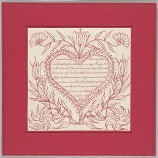Calligraphy, Valentine Card