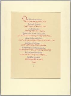 Calligraphy (USA), 1976