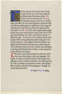 Calligraphy, Quotation, 1975