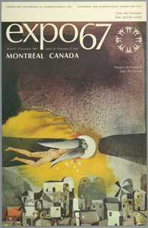 Poster, Expo 67, Montreal, Image de l'Homme, 1967